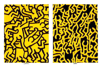 Playboy  KH86 by Keith Haring, $850